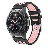 YaYuu Gear S3 Frontier/Classic Correa de Reloj, Reemplazo de Banda de Silicona Suave Deportiva Pulsera de Repuesto para Samsung Galaxy Watch 46mm/Samsung Gear S3/Moto 360 2nd Gen 46mm Smart Watch