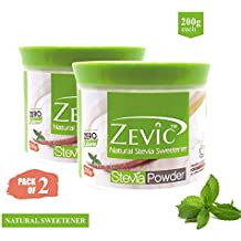 Zevic Stevia White Powder, 200g (Pack of 2)