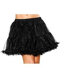 "BOOLAVARD 1950 18"" Rockabilly Mini Jupe Jupon Retro Vintage Petticoat Tutu Swing Rouge, Noir, Blanc, Bleu, Rose ..."