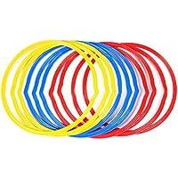 Yinuoday 6 anillos de entrenamiento de fútbol, equipo de entrenamiento de fútbol para entrenamiento de baloncesto, fútbol, voleibol, mejora la coordinación, velocidad de salto
