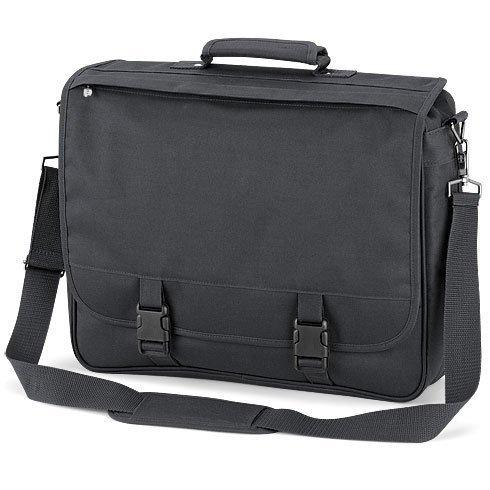 Quadra - sacoche cartable sac porte documents - QD65 - mixte adulte - coloris gris foncé (dark graphite)
