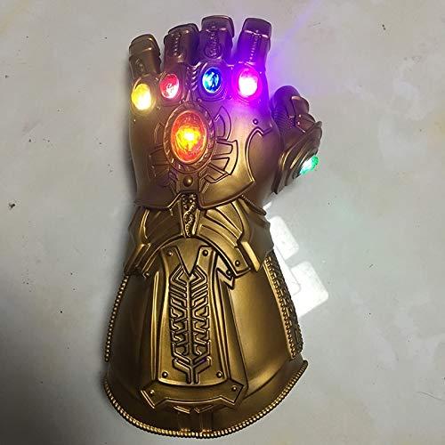 Kostüm Handschuh Gauntlet - VAWAA Erwachsene Avengers Endgame Thanos Cosplay Handschuh PVC Thanos Led Infinity Gauntlet Handschuhe Spielzeug Halloween Cosplay Kostüm Requisiten