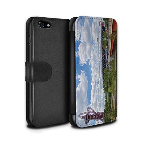 Stuff4 Coque/Etui/Housse Cuir PU Case/Cover pour Apple iPhone 7 / Cité de Londres Design / Sites Londres Collection Parc Olympique/Orbit