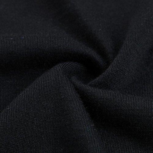 Bekleidung Longra Damen Sommer Kurzarm T-Shirt Crisscross V-Ausschnitt Oberteil Tops Bluse Shirt Black