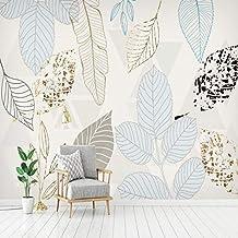 Mural Mural Personalizado 3D Papel De Pared Nordic Vintage Pintado A Mano Hojas Resumen Mural Sala