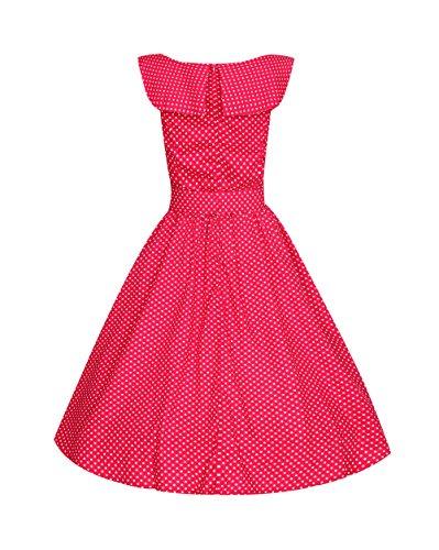 roblora Kleid von Soiree Cocktail, KTV 50-Jahre-Stil, Rockabilly, Swing, Vintage 1950's Audrey Hepburn an5002 - Marron.B