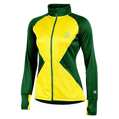 PEP Rally lang Sleeve Full Zip Jacke, Damen, NCAA Champion Women's PEP Rally Long Sleeve Full Zip Jacket, grün, X-Small ()