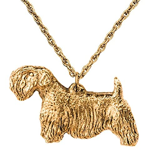 Sealyham Terrier Made in UK, Collection Pendentif Collier Artistique Style Chien