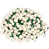 Sanvatsar Artificial Mogra Buds/Jasmine Flower for Jewellery Making, Craft Material (Approx 500 Buds)