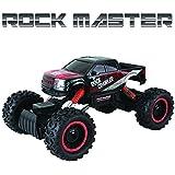 Coche con mando a distancia para niños – Rock Crawler 4x4 RC Car - 1/14 Rock Master Rock Crawler con controlador 2.4Ghz (Rojo)