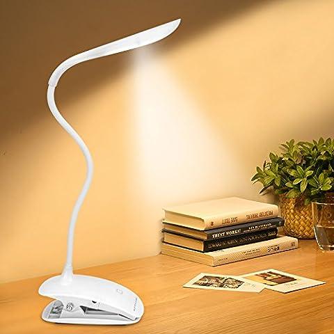 Tragbare LED-Leselampe mit flexiblen Schlangen Hals aus Enlightric® mit 3