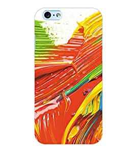 ColourCraft Colourful Brush Strokes Back Case Cover for APPLE IPHONE 6