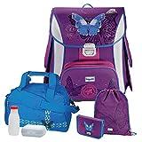 Butterfly Schmetterling Leicht-Schulranzen Set Baggymax CANNY Hama 6tlg. mit SCHULSPORTTASCHE
