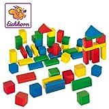 Eichhorn 100050161 - 50 bunte Holzbausteine in einer Formen-Steckspiel Box, 25mm, FSC 100% Zertifiziertes Buchenholz