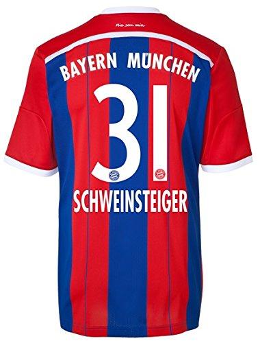 Trikot Adidas FC Bayern München 2014-2015 Home (Schweinsteiger 31, M)