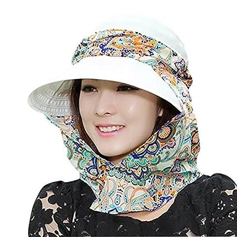 Ruban Pour Chapeau - iShine Chapeau de Soleil Protection du Cou