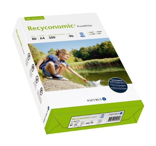Papyrus 88031825 Multifunktionspapier Recyconomic PureWhite 80 g/m², A4 500 Blatt weiß