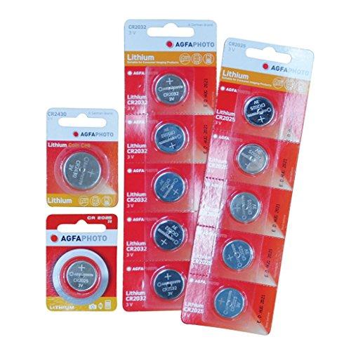 Agfa AGFA CR2025 Lithium Coin Batterie Emballage de 5