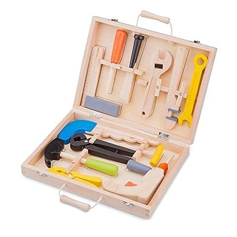 New Classic Toys - Großer Werkzeugkasten, 12-teilig