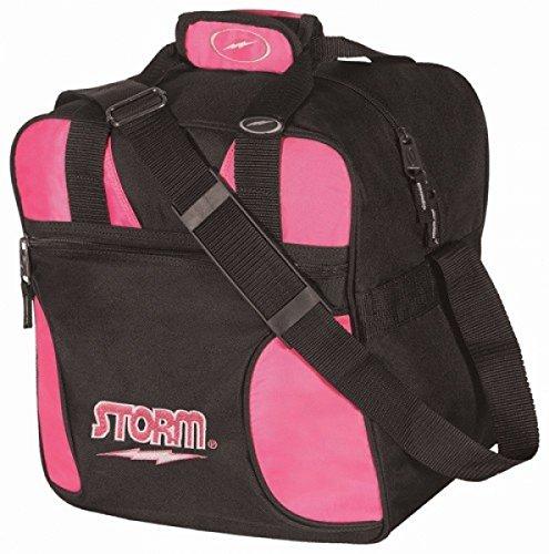 Storm Solo Single Tote 1 Ball Bowling-Tasche für 1 Bowlingball und 1 Paar Bowling-Schuhe in Verschiedenen Farben (Schwarz/Pink)