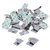 eBoot 30 Piezas Metal Clips de Cable Adhesivo Abrazadera de Cables para Oficina y Hogar, 2 Tamaños