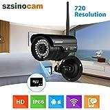 Szsinocam Wireless 720P Megapixel H.264 WiFi Wasserdichte Sicherheit CCTV WLAN IP-Kamera SD Solt