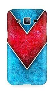 Amez designer printed 3d premium high quality back case cover for Samsung Galaxy J2 (Line Color 1)