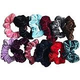12pcs Elastico in Velluto Scrunchies Cravatte elastiche per capelli Velluto Ponytail Titolare Fasce per Capelli per le Donne Ragazze