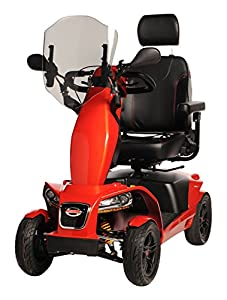FreeRider FR1 Mobility Scooter, Red