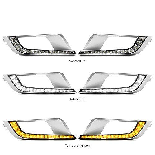 Preisvergleich Produktbild MotorFansClub LED DRL Tagfahrlicht Nebelscheinwerfer für Ford Ranger Px2 Mk2 Wildtrak 2016 2017