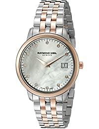 Raymond Weil Women's 'Toccata' Quartz Stainless Steel Dress Watch (Model: 5388-SP5-97081)