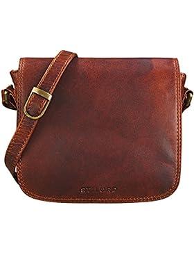 STILORD 'Isabelle' Umhängetasche Damen Leder klein Handtasche elegante Schultertasche Vintage Ledertasche Partytasche...