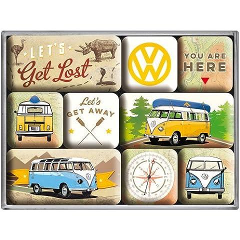 Nostalgic-Art 83080magnético Juego de Volkswagen Bulli–Let 's Get Lost, 9piezas)