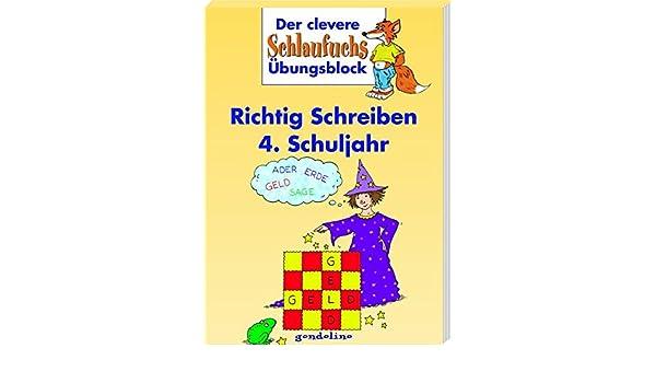 Kinderbuchschlaufuchs Richtig Schreiben 4 Schuljahr Amazonde