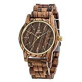 XY Fancy Herren Holz elegante Armbanduhr Japanisches Quarzwerk analog Uhr