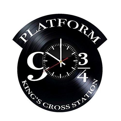 Platform 93/4Harry Potter Vinyl Wanduhr-Original Geschenk für Harry Potter-Fans-Art Wand Room Decor Handgefertigt Dekoration Party Supplies Thema Geburtstag Geschenk-Vintage und Modernen Stil
