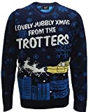 Only Fools and Horses Official Knitted Christmas Jumper (Van) Stu (XXL, Blue)