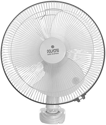 Polycab Bullet 2000 95 Watt Plastic High Speed Bullet Wall Fan (white & Blue)