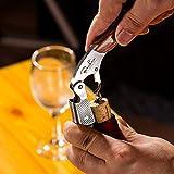 BENKIA Holz Kellnermesser - Gratis Wein-Ratgeber Ebook - Profi Korkenzieher aus Edelstahl in Gastronomie Qualität mit Flaschenöffner & Folienschneider - 4