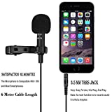 #9: Professional Grade Multi Purpose Lapel mic, # 6 Meter Cable Length . suitable for I phones, Android Phones, Computers & Wireless Receivers.