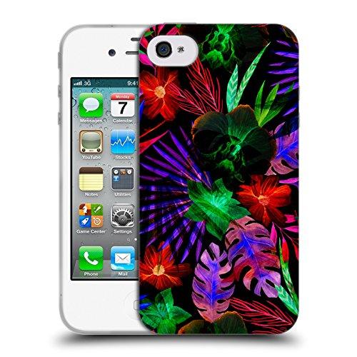 Offizielle Haroulita Kaktus Tropisch Soft Gel Hülle für Apple iPhone 5c Neon Blumig