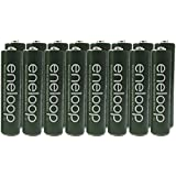 Panasonic Eneloop AAA Nimh Pre-Charged Rechargeable Batteries With Battery Holder - Rechargeable 2100 Times Special Green Color Eneloops (Pack Of 16)