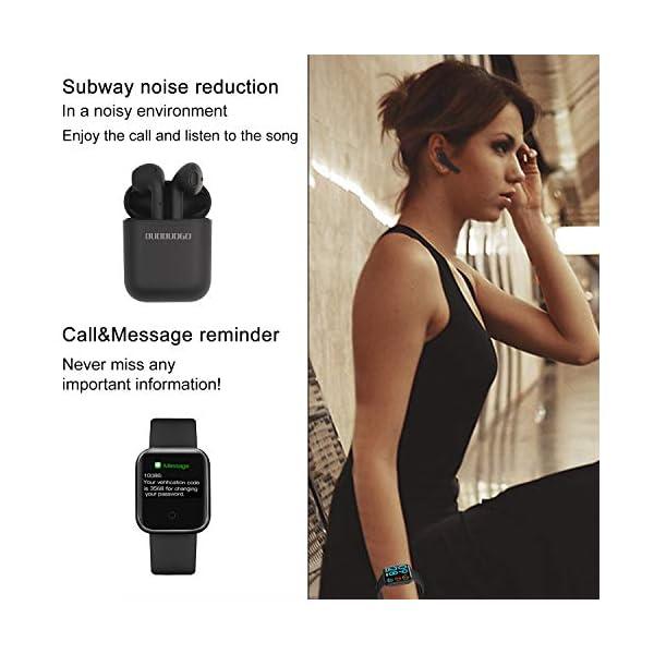 Smartwatch, Reloj Inteligente Mujer Hombre Pulsera de Actividad Inteligente Impermeable IP68 Pulsómetros Podómetro Monitor de para Sueño Calorías, para iPhone Android Xiaomi Samsung Huawei 2