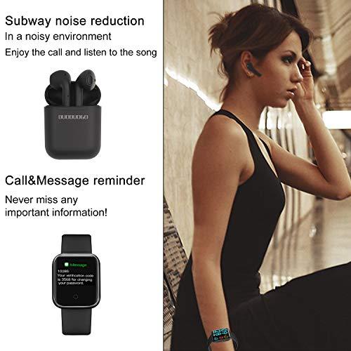Smartwatch,  Reloj Inteligente Pulsera de Actividad Inteligente Impermeable IP68 Pulsómetros Podómetro Monitor de Sueño Calorías,  para iPhone Android Xiaomi Samsung Huawei Hombre Mujer niños (Negro)