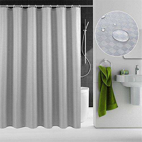 MIWANG Europäische hochwertige Vorhang, Badezimmer Dusche Bad Dusche Vorhänge, kleinen Platz Vorhang, 150 x 200 cm, silbrig-grau -