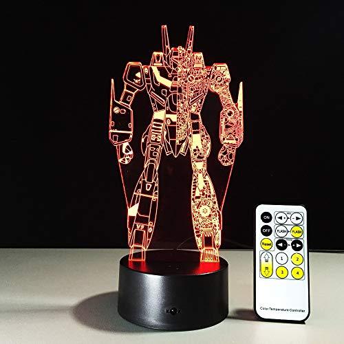 Transformatoren Farben Lampe Bunte Vision Stereo LED Lampe 3D Lichtverlauf Acryl Lampe Touch Sensor Fernbedienung Nachtlicht -