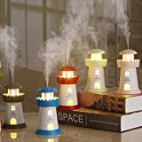 #9: Kakde's & CO. Light House Humidifier LED Night Light Cool Mist Humidifier With Timed auto shutdown for Office Home Car