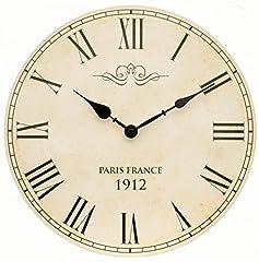 Idea Regalo - Tinas Collection Orologio da parete, orologio shabby chic da parete, orologio muro, orologio per cucina (Paris)