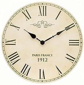 Tinas Collection Orologio da parete, orologio shabby chic da parete,  orologio muro, orologio per cucina (Paris)