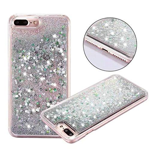 iPhone 6/6S Hülle - 3D Kreatives Design Luxus Shiny Flow Sand Entzückende Fließende Schwimmende Moving Shiny Glitzer Sequins Bling Cute Pattern Shell für iPhone 6/6S - Girl Boss 9-E